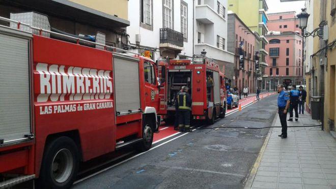 Seis personas heridas en el incendio de una vivienda en LPGC