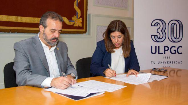 Telde y la ULPGC suscriben un convenio para el diseño de un Plan comunitario de salud del Valle de Jinámar