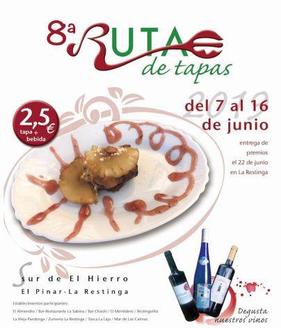 El Pinar celebra la octava edición de la 'Ruta de la Tapa Sur de El Hierro' del 7 al 16 de junio