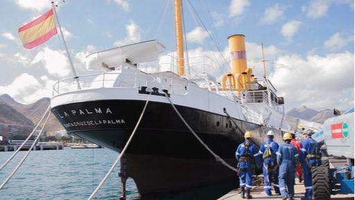 Tenerife Shipyards finaliza los trabajos de restauración del casco del Correíllo La Palma