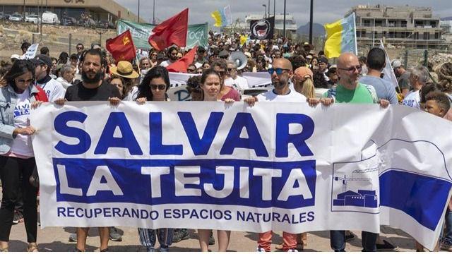 Los ecologistas piden al Estado que paralice las obras del hotel de La Tejita