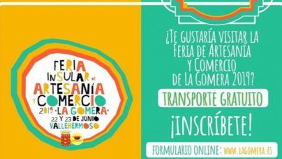 El Cabildo facilita transporte gratuito para acudir a la Feria de Artesanía de La Gomera