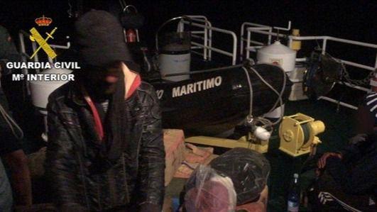 Interceptada una zodiac con 720 kilos de hachís al sur de Gran Canaria y detenidos sus tres ocupantes