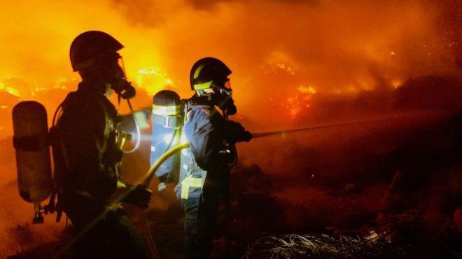 El incendio más relevante se produjo en San Isidro, afectando a más de mil metros cuadrados de restos de poda