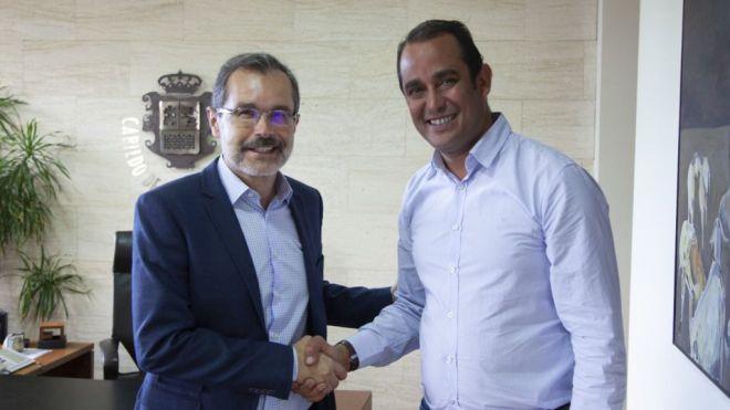 El presidente Blas Acosta se compromete a continuar algunos de los proyectos iniciados por Marcial Morales