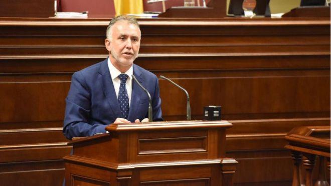 Ángel Víctor Torres, presidente de Canarias con los votos del PSOE, NC, Sí Podemos y ASG