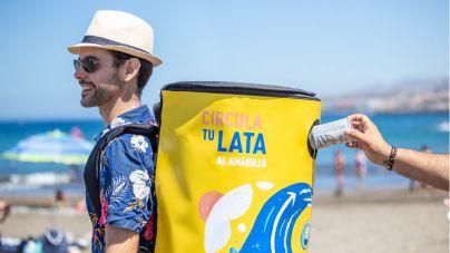 "La campaña ""Circula tu lata"" llega a la Playa de Troya"