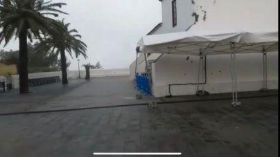 El fuerte viento obliga a suspender la Muestra de Artesanía de Chipude