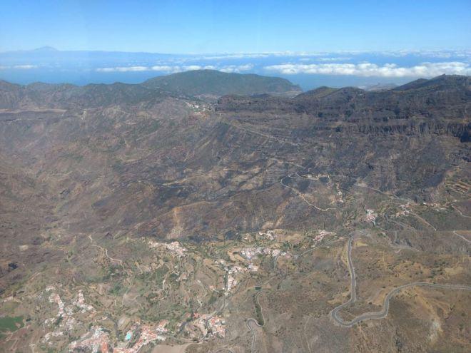 El Gobierno declara estabilizado el incendio forestal de Gran Canaria