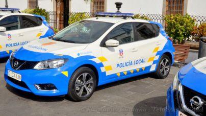 La Policía Local de Telde desaloja los barrios de El Espino, El Chorrillo y la Solana, en Tejeda, con motivo del incendio de Valleseco