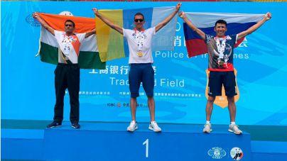 El policía local Jonay González gana cinco oros en los mundiales de China