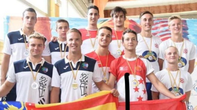 Sergio Calderón, Álvaro Merino y Louka Vanhoucke, terceros de España en 4 x 50 Obstáculos