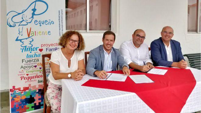 El Cabildo renueva el convenio de colaboración con la asociación Pequeño Valiente