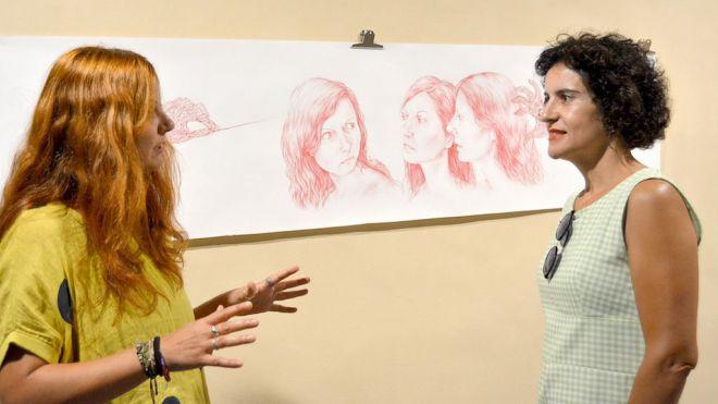 Muestra de dibujos de Beatriz Pérez Pacheco en 'Ejercicios espirituales'