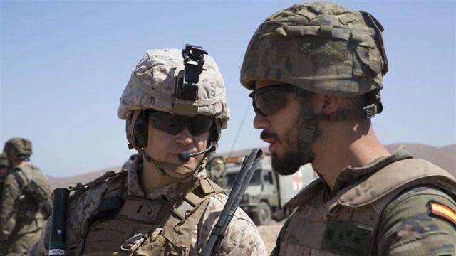 Ejército de Tierra y Marines de EEUU realizan un ejercicio bilateral de instrucción y adiestramiento en Fuerteventura