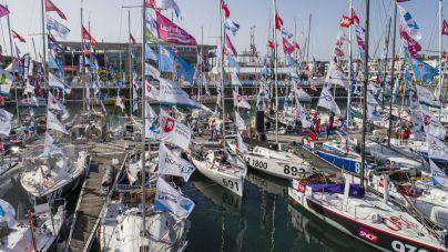 Las Palmas de Gran Canaria, protagonista en la salida de la regata Mini Transat en La Rochelle