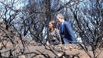 El Rey reconoce una 'impresión muy fuerte' al ver 'in situ' los daños del incendio de Gran Canaria
