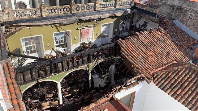 El Ateneo de La Laguna sufre un incendio