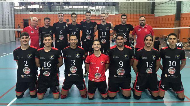 Victoria del Club Voleibol San Roque ante el Voleibol Olot