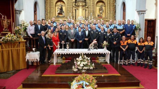 Los Realejos conmemora el día del patrón de su Policía con reconocimientos a varios agentes