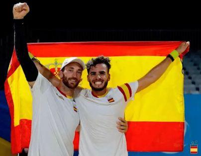 El canario Antomi Ramos y el catalán Gerard Rodríguez dan el oro a España en tenis playa durante los Juegos Mundiales