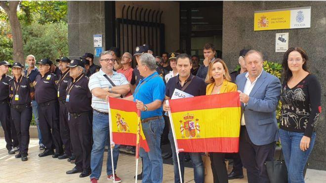 Zurita y Ledesma muestran su solidaridad con el compromiso y la profesionalidad de los cuerpos de seguridad del Estado en Cataluña