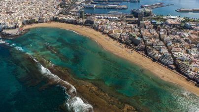 La integridad de La Barra de Las Canteras será fundamental para controlar la subida del nivel del mar