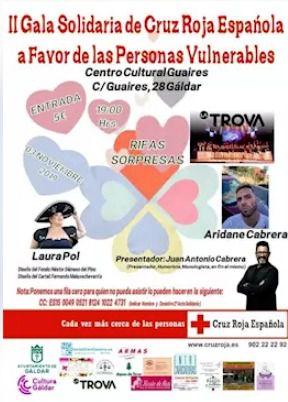 Cruz Roja celebra este domingo la II Gala Solidaria en Gáldar
