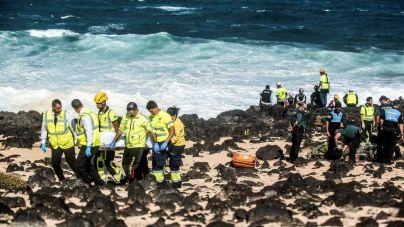 Se eleva a nueve los migrantes fallecidos de la patera que volcó en Lanzarote