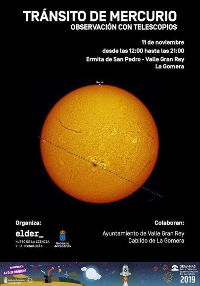 La Gomera será epicentro de la observación del tránsito de Mercurio