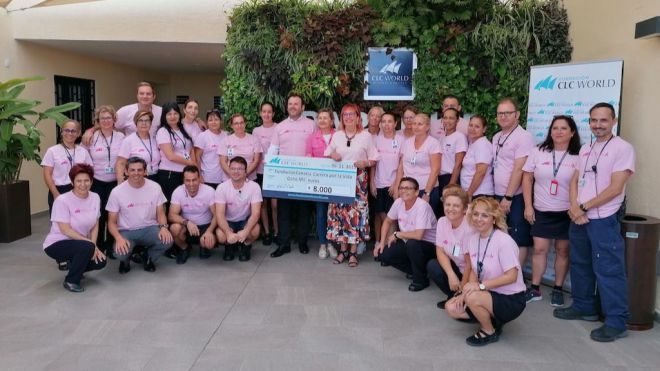 CLC World Resort & Hotels dona 8.000 euros a la Fundación Carrera por la Vida