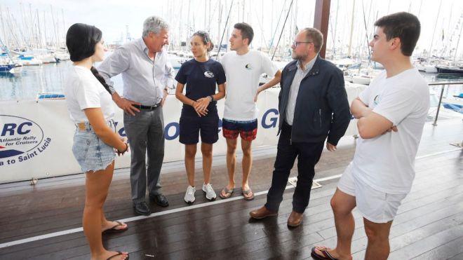 Cuatro jóvenes de Gran Canaria integran parte de la tripulación de la ARC Youth Team