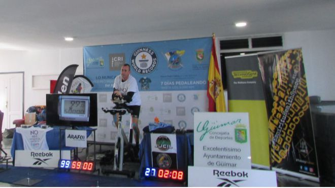 A Miguel Angel Castro le sobra un día para su Súper World Record Guinness