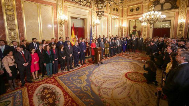 El presidente de Canarias celebra en el Congreso los 41 años de la Constitución Española