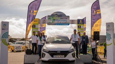 El Hyundai KONA 100% eléctrico ganador de la primera edición del ECORally Isla de Gran Canaria