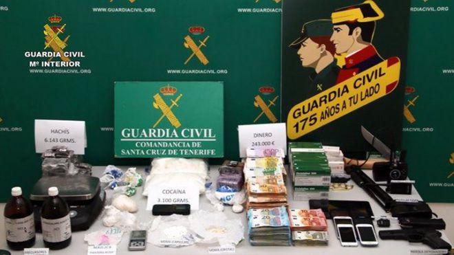 Cae una organización criminal en Tenerife dedicada al tráfico de drogas