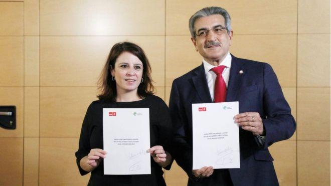 NC confía en que el acuerdo PSOE-ERC respete el marco jurídico