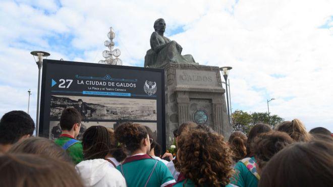 Una muestra al aire libre recupera la ruta vital de Galdós en Las Palmas de Gran Canaria