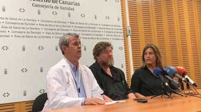 Los alemanes dados de alta en La Gomera dicen que no tenían 'preocupación ni miedo'