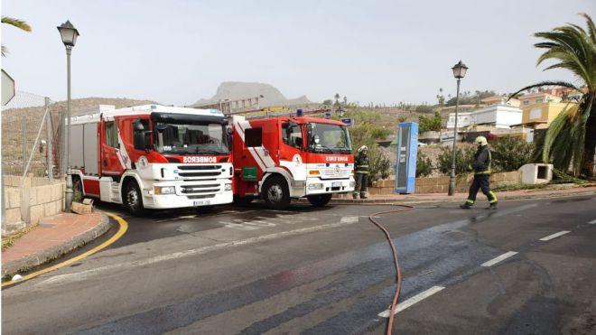 Bomberos de Tenerife realiza varias actuaciones relacionadas con el fuerte viento