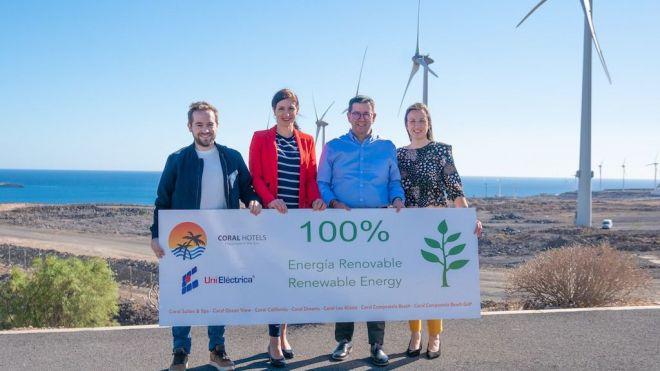 Coral Hotels certifica que el consumo eléctrico de sus establecimientos es 100% renovable
