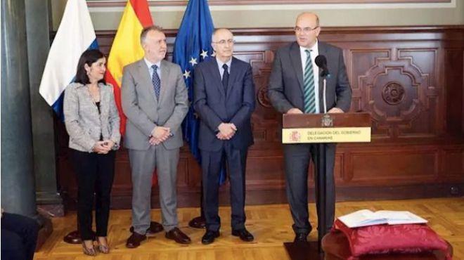 Pestana toma posesión como delegado del Gobierno en Canarias con retos como afrontar el repunte de la inmigración