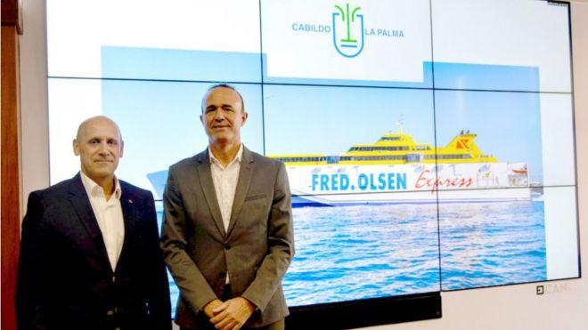 La Palma y Fred. Olsen Express anuncian rutas directas diarias entre La Palma y Tenerife