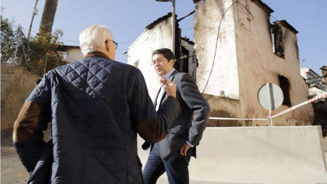 El Cabildo gestionará ayudas para las zonas afectadas por los incendios y el viento