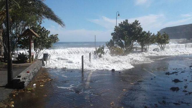 Alajeró aprueba una moción para la mejora de la escollera de la bahía de Playa de Santiago