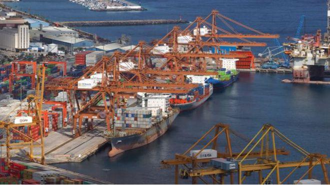 Puertos de Tenerife movieron hasta febrero un 3,6 por ciento más de mercancías de tráfico total