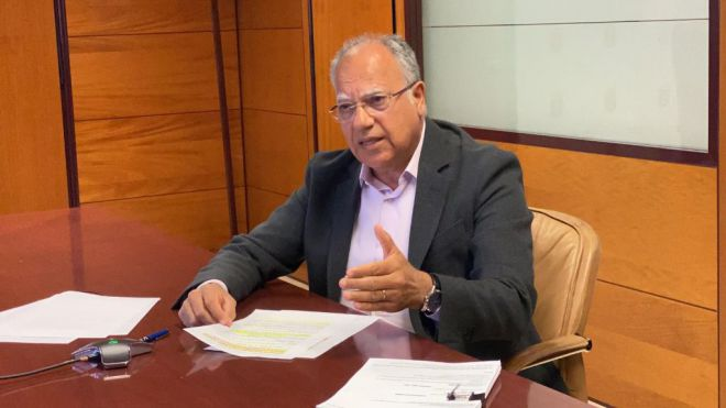 Curbelo apela a promover un gran pacto social para lograr la recuperación económica de Canarias