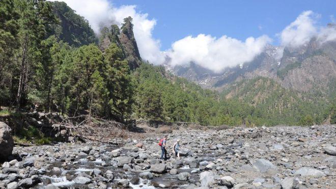 Un sendero de la Caldera de Taburiente participa en el proyecto europeo de desarrollo sostenible TrailGazersBid