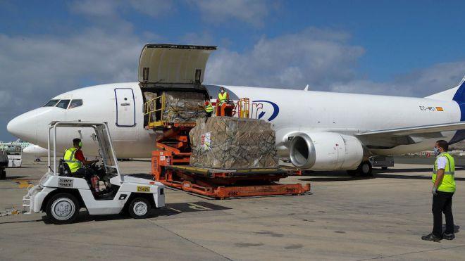 Nuevo cargamento con material sanitario y 63.250 test para el diagnóstico de Covid-19