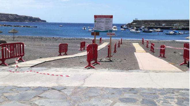 Guía de Isora habilita zonas de acceso al mar para realizar deporte individual